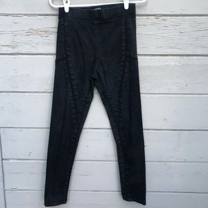 Fashion nova acid wash pull on pants mesh sheer